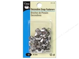 "Dritz Snap Fastener Size 5/8"" Hexagon Nickel 12pc"