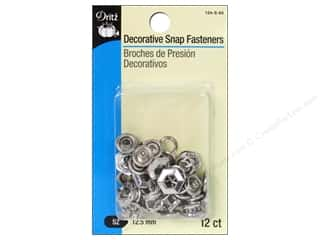 Purses Dritz Snaps: Decorative Snap Fasteners by Dritz 1/2 in. Hexagon Nickel 12 pc.