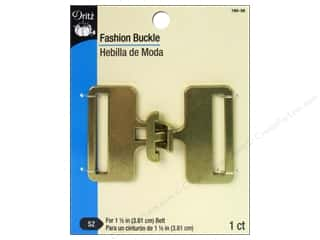 Buckles 1 in: Fashion Buckle by Dritz 1 1/2 in. Antique Gold