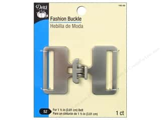 Buckles: Fashion Buckle by Dritz 1 1/2 in. Brushed Nickel