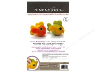 Felting Crafting Kits: Dimensions Needle Felting Kits Round & Woolies Fish