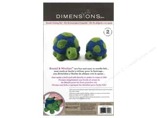 Felting Crafting Kits: Dimensions Needle Felting Kit Round & Woolies Turtle