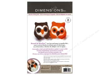 Felt Projects & Kits: Dimensions Needle Felting Kit Round & Woolies Owls
