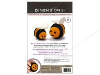 Felting Crafting Kits: Dimensions Needle Felting Kit Round & Woolies Bees