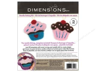 Dimensions Dimensions Needle Felting Kits: Dimensions Needle Felting Kits Cutouts Cupcake