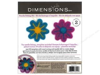Crafting Kits Flowers: Dimensions Needle Felting Kits Cutouts Flower