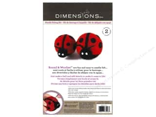 felting kits: Dimensions Needle Felting Kit Round & Woolies Ladybug