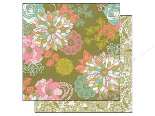 Blend Paper 12 x 12 in. Hope Chest Olive Floral (25 piece)