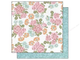 Blend Paper 12 x 12 in. Hope Chest Cross Stitch Roses (25 piece)
