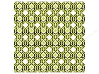 Blend Paper 12 x 12 in. Hope Chest Quatrefoil Green (25 piece)