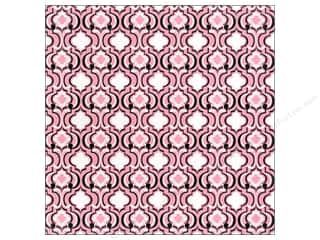 Blend Paper 12 x 12 in. Hope Chest Quatrefoil Pink (25 piece)