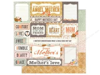 Mother's Day paper dimensions: Authentique 12 x 12 in. Paper Foundations Collection Grace (25 pieces)