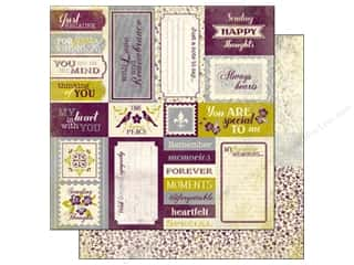 Flowers inches: Authentique 12 x 12 in. Paper Remembrance Collection Enhancement (25 pieces)