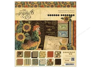 Graphic 45 French Country 8 x 8 in. Paper Pad