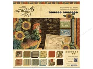 Graphic 45 French Country 12 x 12 in. Paper Pad