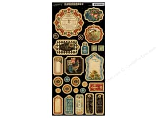 button: Graphic 45 Chipboard Die Cuts French Country 1