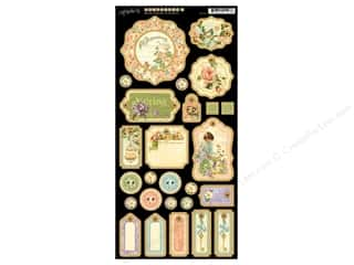 Graphic 45 Die Cut Chipboard Secret Garden 1