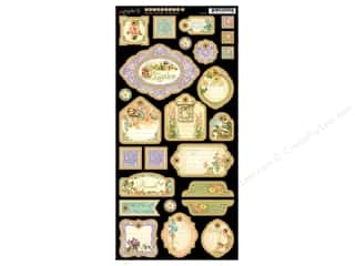 Graphic 45 Die Cut Chipboard Secret Garden 2