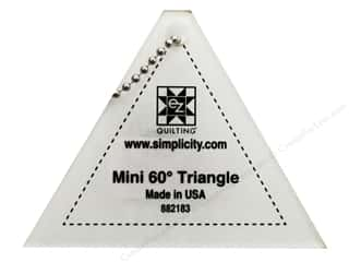 Seam Rippers $2 - $4: EZ Quilting Mini Triangle 60 degree Acrylic Template 3 1/4  x 2 1/2 in.