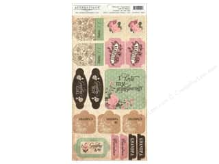 Authentique Sticker Cherish 6 x 12 in. Components (12 set)