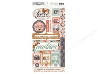 stickers  -3D -cardstock -fabric: Authentique Stickers 6 x 12 in. Grace Components