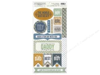 Projects & Kits Father's Day: Authentique Stickers 6 x 12 in. Strong Components (12 sets)