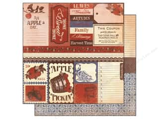 fall sale glue dots: Authentique Paper 12 x 12 in. Seasons Autumn Enhancement (25 piece)