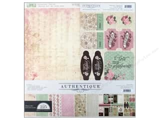 alphabet stickers: Authentique Collection Kit 12 x 12 in. Cherish