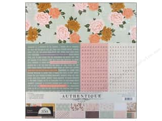 Theme Stickers / Collection Stickers: Authentique Collection Kit 12 x 12 in. Grace