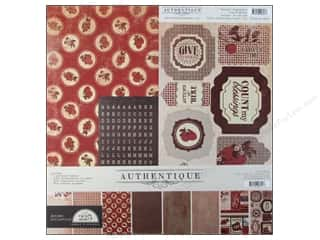 alphabet stickers: Authentique Collection Kit 12 x 12 in. Seasons: Autumn