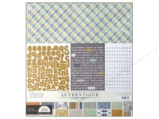 Alphabet Stickers / Number Stickers: Authentique Collection Strong Kit