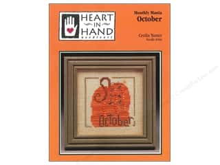 Licensed Products Fall / Thanksgiving: Heart In Hand Monthly Mania October Pattern by Cecila Turner