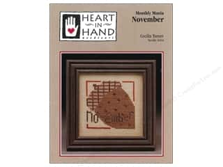 Licensed Products Fall / Thanksgiving: Heart In Hand Monthly Mania November Pattern by Cecila Turner