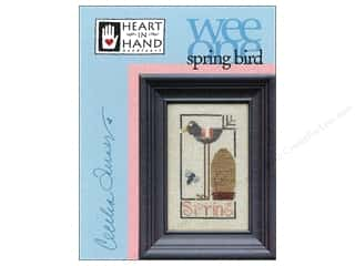 Hearts Art To Heart: Heart In Hand Wee One Bird Spring Pattern by Cecilia Turner