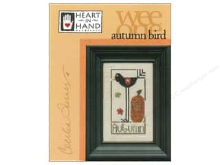 Heart To Hand: Heart In Hand Wee One Bird Autumn Pattern by Cecilia Turner