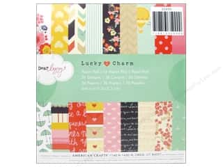 American Crafts Paper Pad 6 x 6 in. Lucky Charm