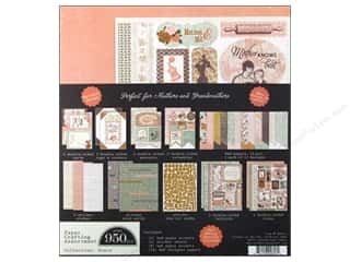 Shadowbox Frames Scrapbooking & Paper Crafts: Authentique Paper Crafting Kit 8 x 8 in. Grace