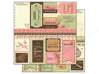 family thing pink: Authentique 12 x 12 in. Paper Cherish Collection Enhancement (25 pieces)