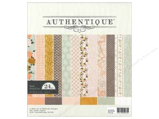 Clearance Blumenthal Favorite Findings: Authentique Paper Bundle 8 x 8 in. Grace 24 pc.