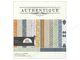 Clearance Blumenthal Favorite Findings: Authentique 6 x 6 in. Paper Bundle Strong 26 pc.
