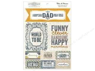 Father's Day Kid Crafts: Authentique Die Cuts Strong Titles And Phrases (12 sets)