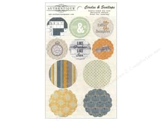 Fathers: Authentique Die Cuts Strong Circles & Scallops (12 sets)