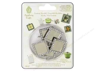 Epiphany Charm Setting Rhinstn Sq #25 Slvr 5pc