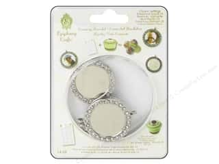 Epiphany Crafts $5 - $6: Epiphany Accessories Charm Setting Rhinestone Round #25 Silver 5pc