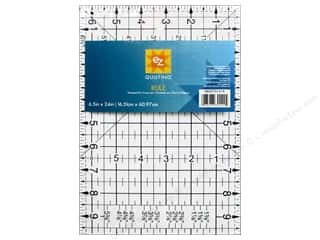 "Guidelines 4 Quilting 24"": EZ Quilting Easy Rule II Acrylic Ruler 6 1/2  x 24 in."