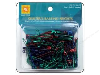 jewelry safety pin: EZ Quilting Safety Pins Basting Brights 200pc