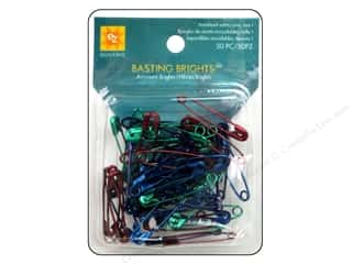 Bright Quilting Notions: EZ Quilting Safety Pins Basting Brights 50pc