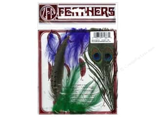 Zucker Feathers Blue: Zucker Feather Kit Peacock/Sword-Guinea/Hackle Mix