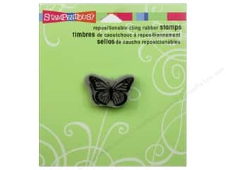 Rubber Stamping Clearance Crafts: Stampendous Cling Monarch Butterfly Rubber Stamp