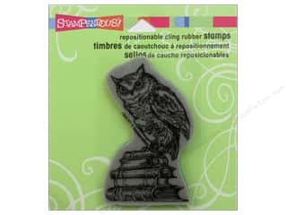 Stampendous Cling Literary Owl Rubber Stamp